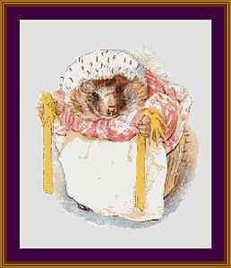 Counted Cross Stitch Pattern   Beatrix Potter Mrs. Tigglewinkle with