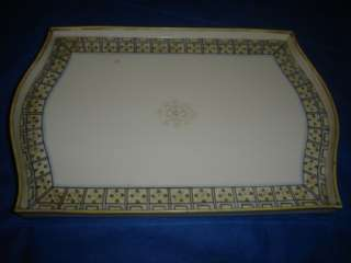 Nippon hand painted four footed vanity tray