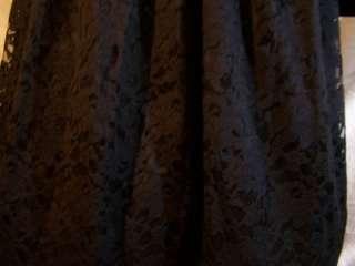 Vintage Velvet Black Lace Dress Party Evening Womens Clothing Size L