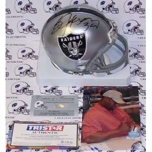 Bo Jackson Autographed/Hand Signed Oakland Raiders Mini Helmet