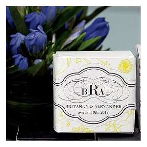 Monogram Wedding Favors Box Wraps   10 vibrant colors