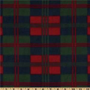 60 Wide Fleece Plaid Blue/Red/Green Fabric By The Yard