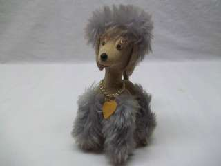 Vintage Old Retro 50s Stuffed Toy Poodle Dog Jerry Elsner NY Cute