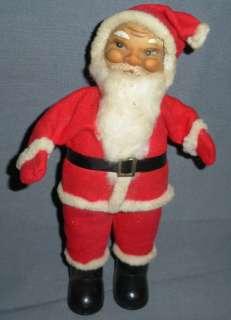 DOLL FIGURINE RED FELT SUIT COTTON BEARD CHRISTMAS DECORATION