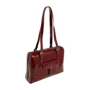 Siamod Molinelli Leather 15.4 Laptop Tote   Red