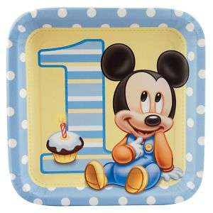 Mickey Mouse 1st Birthday Party Supply Deluxe Set (8)