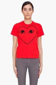 black logo print t shirt $ 120 00 play comme des garcons black heart