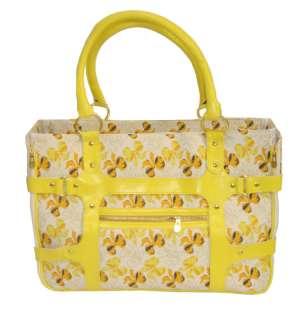 Tropical Sun Yellow Designer Bag Dog Cat Pet Carrier