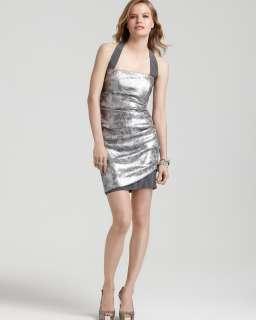 Nicole Miller Sequin Halter Mini Dress   Dresses   Sale   Womens