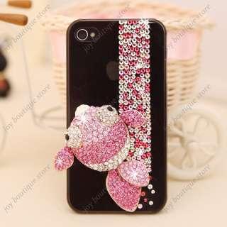 Bling 3D elegant pink fish crystal rhinestone Case Cover for Apple