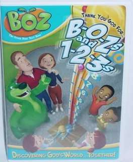 Boz Thank You God For Bozs and 123s NEW Kids DVD