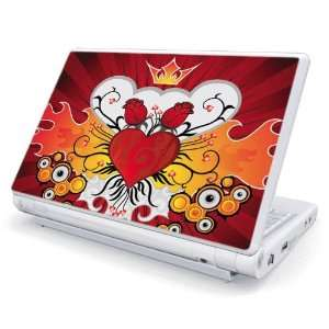 Rose Heart Design Skin Cover Decal Sticker for Acer (Aspire ONE) 10.1