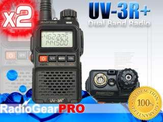 BaoFeng UV 3R+ Plus Dual Band Radio 136 174 400 470 Mhz + earpiece