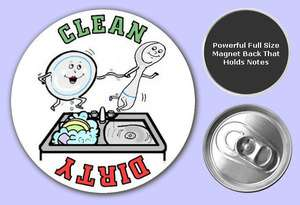 Button Dishwasher Magnets Badges Refrigerator Signs 01b