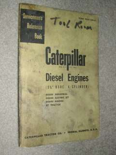 D8800 ENGINE SERVICE MANUAL 4 CYL SERVICEMENS REFERENCE BOOK D7