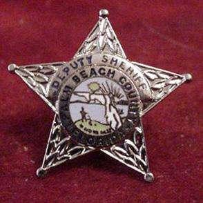 Silver Palm Beach County Deputy Sheriff Badge mini