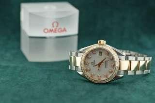Ladies Omega Steel Rose Gold & Diamond Seamaster Aqua Terra 666.1110