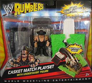 CASKET PLAYSET   WWE RUMBLERS TOY WRESTLING ACTION FIGURE