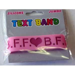 Rubber Bracelet  BFF Heart Bff Pink/red Arts, Crafts & Sewing