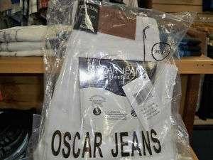 NWT Classic Mens Oscar Designer Jeans Inseam 30 White