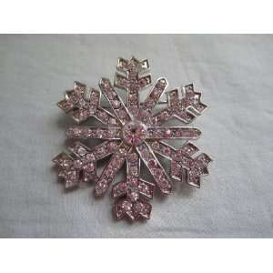 Vintage Monet Silvertone Christmas Holiday Snow Flake