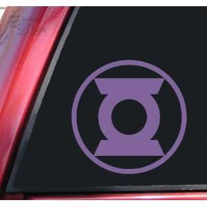 Green Lantern Symbol #2 Vinyl Decal Sticker   Lavender