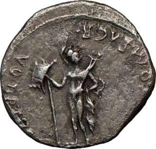 Patricia,19 B.C., Avgustus. Silver Denarius. Mars. Extremely Rare