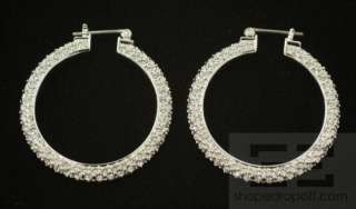 Swarovski Crystal Rhinestone Hoop Earrings
