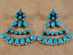 Sterling Silver & Turquoise Federico Jimenez Earrings