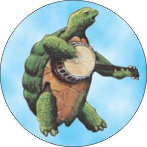 Button Pin Badge Grateful Dead Terrapin w/Banjo