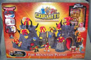 GORMITI 2008 SERIES 1 FIRE MOUNTAIN PLAYSET WITH EXCLUSIVE FIGURE