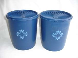 Tupperware Servalier CANISTER DARK Navy BLUE Keepers Container Lid
