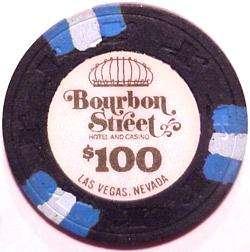 100 BOURBON STREET LAS VEGAS CASINO CHIPS