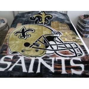 Royal Plush Raschel Blanket/throw   New Orleans Saints