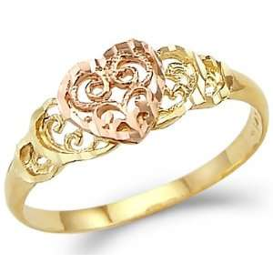 Size  11   14k Yellow and Rose Gold Love Two Tone Small