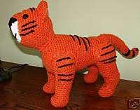 Handmade Crochet Tiger Stuffed Animal Toy