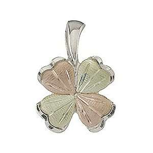 Black Hills Gold Sterling Silver Four Leaf Clover Pendant Jewelry