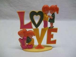 Vintage Retro 60s 70s Hippie Kids Love Wilton Cake Topper Decoration
