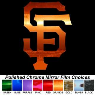 Giants SF Logo Orange Chrome Auto Window Sticker Decal