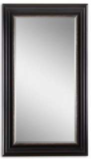 Modern Black/Red/Silver Wall/Entry Mirror 39 5/8x69 5/8
