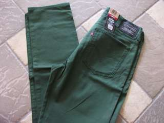 NEW LEVIS 510 GREEN SUPER SKINNY JEANS MENS 38X32 STYLE 055100043