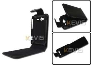 Black Leather Cover Case for HTC Wildfire S G13 A510E