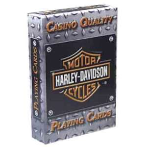 Harley Davidson Diamond Plate Playing Cards  Sports