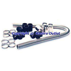 Stainless Radiator Hose Kit Chevy Ford Mopar 48 Long Universal Fit SS