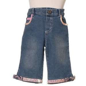 Infant Toddler Girls Pink Sequin Denim Jeans 2M 4T Lipstik Baby