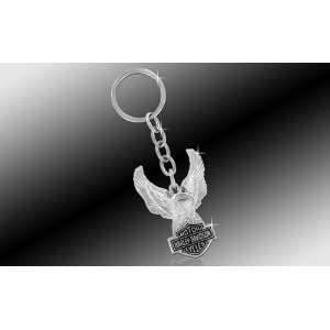 Truck SUV Key Chain Metal  Eagle Holding Bar & Shield Logo Automotive