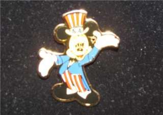 DISNEY MICKEY MOUSE INDEPENDENCE DAY FOURTH OF JULY PIN 1989