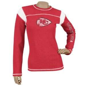 Red Jersey Style Long Sleeve Waffle Thermal T shirt: Sports & Outdoors