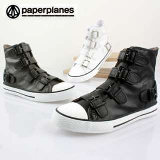 3COLORS WOMENS HI TOP CANVAS FASHION SNEAKERS HIGH QUALITY SIZE6~11