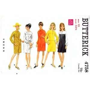 Jewel Neck Slim Dress Size 10 Bust 32 1/2: Arts, Crafts & Sewing